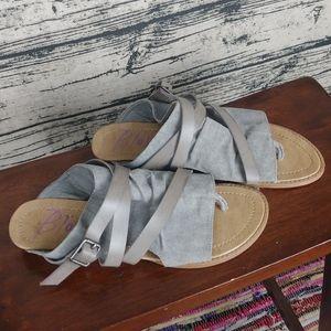 Grey Blowfish Sandals. Size 9.5 Women.